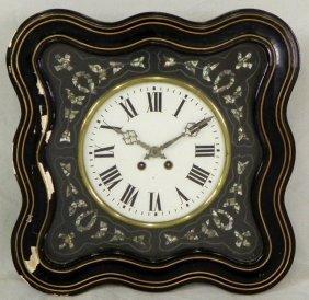"Napoleon III ""Oil De Boeuf"" Ebonized Wall Clock, C."