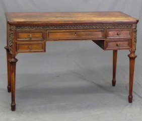 Louis XVI Style Carved Beech And Gesso Lady's Desk,