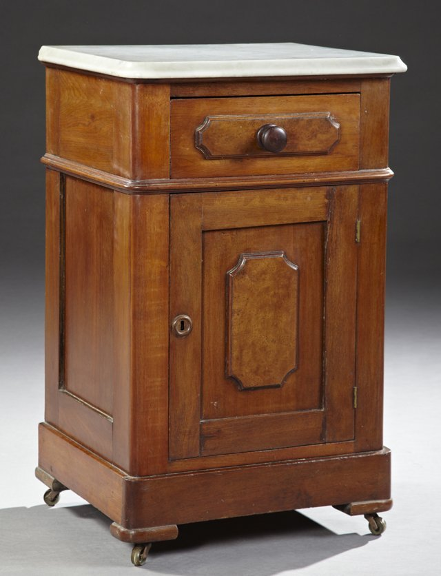 American Victorian Marble Top Nightstand C 1880 The
