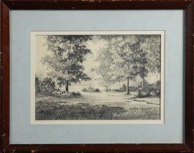 "Evelyn Clouatre, ""louisiana Landscape,"" 20th C.,"