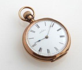 "Rose Gold Filled Waltham ""william Ellery"" Pocket Watch,"