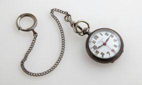 Sterling Croton Pocket Watch, C. 1920, With A Short