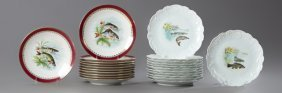Group Of Twenty-three French Limoges Porcelain Fish