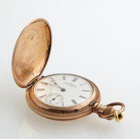 Waltham Rolled Gold Hunting Case Pocket Watch, Ser #