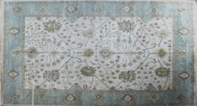 Turkish Angora Oushak Carpet, 9' 3 X 11' 10.