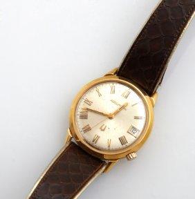 Bulova 18k Yellow Gold Accutron Wristwatch, Ser #