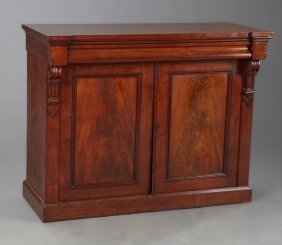Diminutive English William Iv Carved Mahogany