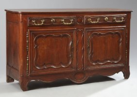 French Provincial Louis Xv Style Carved Oak And Cherry
