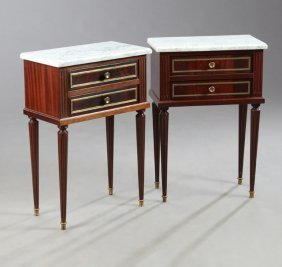 Pair Of French Louis Xvi Style Carved Mahogany Ormolu