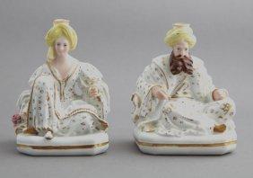 Pair Of Jacob Petit Porcelain Sultan Perfumers, 19th
