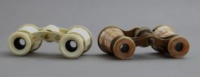 Pair Of Mother-of-pearl Opera Glasses, C. 1900, By