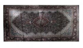 Kashmir Kashan Carpet, 12' X 19'