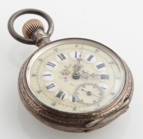 Continental .800 Silver Open Face Pocket Watch, 19th