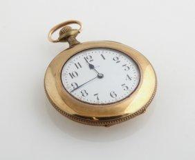 Elgin Open Face Rolled Gold Pocket Watch, 1885, Ser #