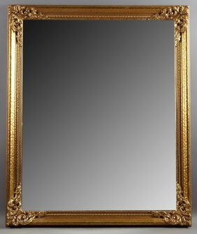 Modern Louis Xv Style Gilt And Gesso Overmantel Mirror,