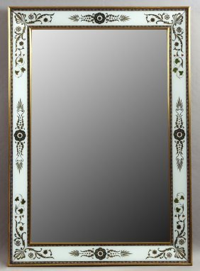 Venetian Style Eglomise Overmantel Mirror, 20th C., The