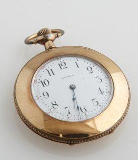 Waltham Model 1890 Gold Filled Pocket Watch, Ser