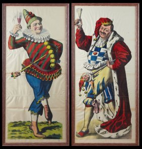 "French School, ""the Jester,"" Late 19th C., Pair Of"