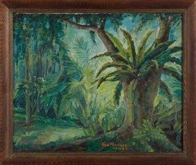 "Myron Van Brundt (1887-1963), ""aiea, Oahu,"" 1939, Oil"