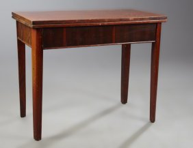 Art Deco Carved Mahogany Games Table, C. 1940, The