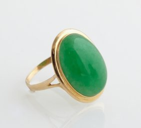 Lady's 14k Yellow Gold Dinner Ring, With A Cabochon