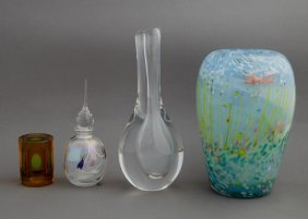 Four Pieces Of Crystal, 20th C., Consisting Of A Kosta