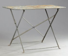 French Modern Iron Bistro Table, Early 20th C., The