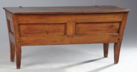 French Provincial Carved Cherry Dough Trough (petrin),