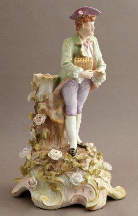 German Polychromed Porcelain Figure, C. 1900, Coburg,