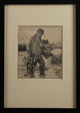 "Frank Weston Benson (1862-1951), ""the Gunner,"""