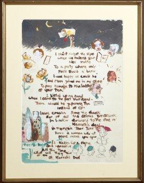 """Dixie Durham (1913-2010, Arkansas), """"illustrated Poem,"""""""