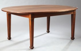 French Louis Xvi Style Carved Mahogany Dining Table,
