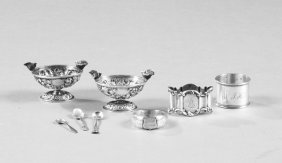 Group Of Eight Pieces Of Sterling, Late 19th C.,