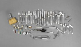 Miscellaneous Group Of Forty-four Pieces Of Sterling,