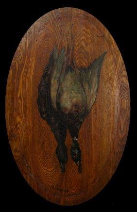 """E. Anderson, """"natur Morte Of Ducks,"""" 20th C., Oil On"""