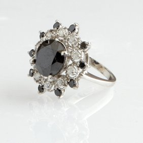 Lady's 14k White Gold Dinner Ring, With A 4.63 Carat