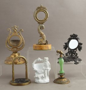 Group Of Six Pocket Watch Holders, 19th And 20th C.,