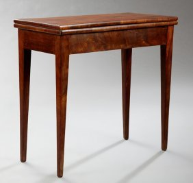 French Louis Xvi Style Carved Mahogany Games Table,