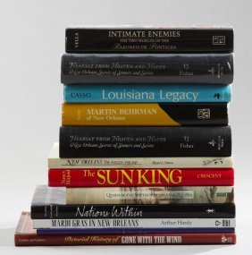 Group Of Twelve Books Of New Orleans Interest,