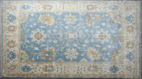 Turkish Angora Oushak Carpet, 9' 1 X 12'.