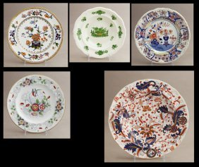 Group Of Five Pieces Of English China, Consisting Of An