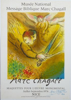 "Marc Chagall (1887-1985), ""angels With Swords,"""