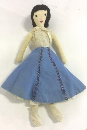 2 Collectible Primitive Style Cloth Dolls First Doll