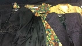 Vintage Women's Clothing In Blacks And Browns Group Of