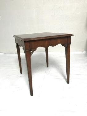 Chippendale Style Side Table.