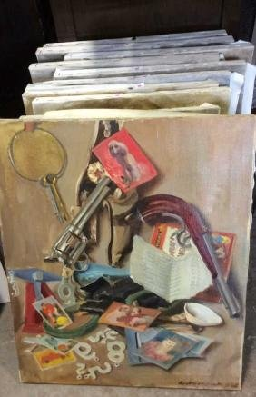 16 A. Wasserman Paintings On Canvas