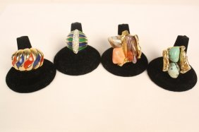 Four Vintage Jewelry Rings