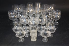 33 Piece Lot Of Vintage Style Drinking Glasses