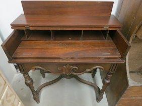 Antique Mahogany Turn-of-the-century Spinet Desk