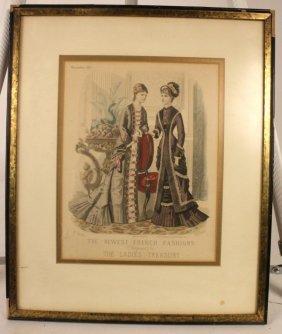 French Fashion Framed Art Work